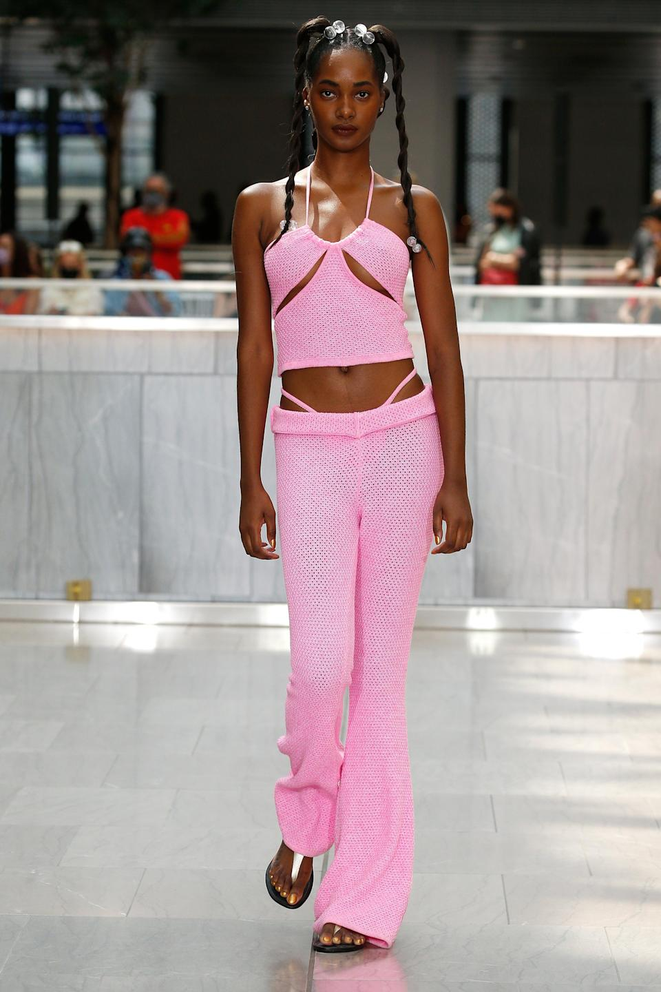 <h2>Over Undies</h2><br>That, or you could always just let your underwear roam free, an eye-catching trend that was spotted at shows like Theophilo, Victor Glemaud, Maisie Wilen, and Saint Sintra. Gone are the days when your pants, skirts, and dresses were meant to be worn <em>on top of</em> your undergarments, a pair of standard-issue boyshorts or a bikini lurking unseen below. For spring, fashion's finest wants you to flash your panties… <em>on purpose</em>. <br><br><em>Victor Glemaud</em>