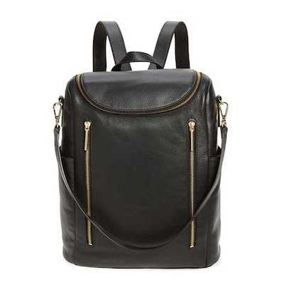 """Level up your look with this grainy leather backpack with moto hardware. What we love more is its versatility: you can convert it to a shoulder bag thanks to its removable strap. $189, Nordstrom. <a href=""""https://www.nordstrom.com/s/nordstrom-sodo-leather-backpack/6414996"""" rel=""""nofollow noopener"""" target=""""_blank"""" data-ylk=""""slk:Get it now!"""" class=""""link rapid-noclick-resp"""">Get it now!</a>"""