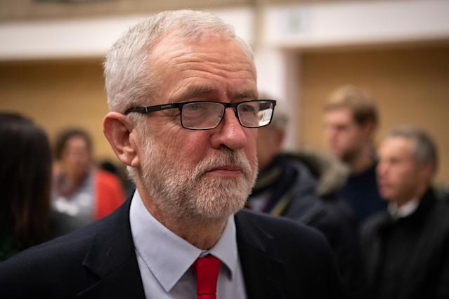 Defeated: Jeremy Corbyn on election night (Leon Neal/Getty Images)