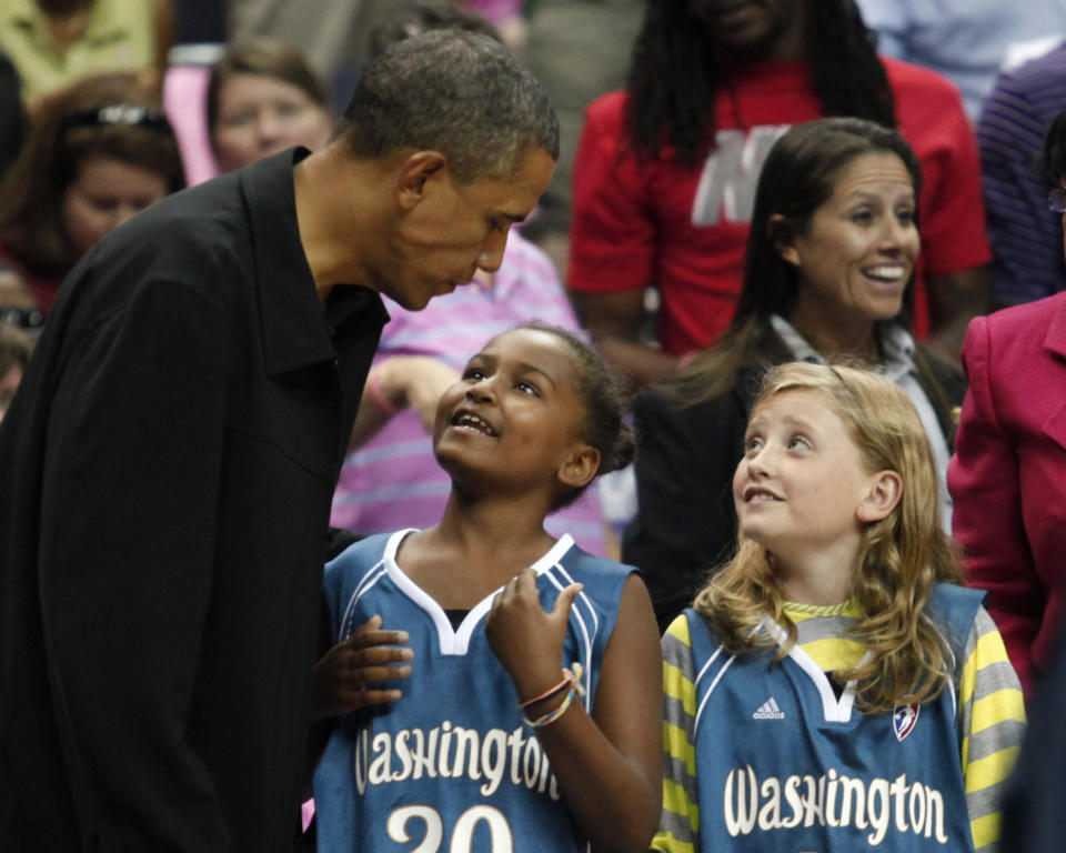 Barack Obama, his daughter Sasha and a friend from 2010.