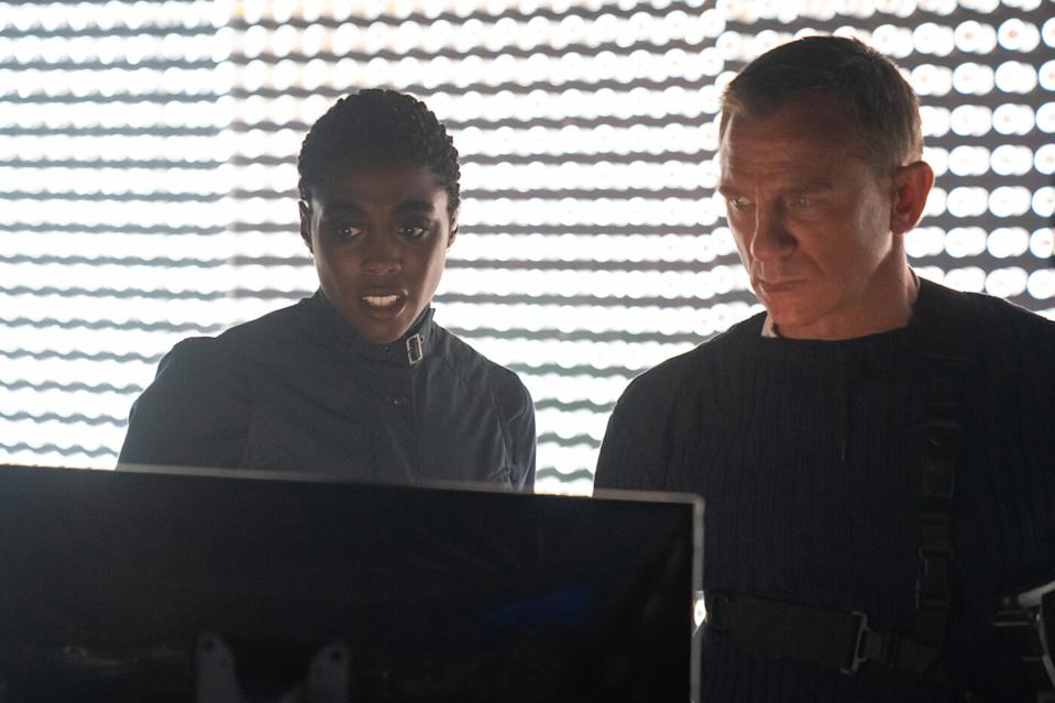 Lashana Lynch and Daniel Craig in a still from No Time To Die. (EON/Universal)