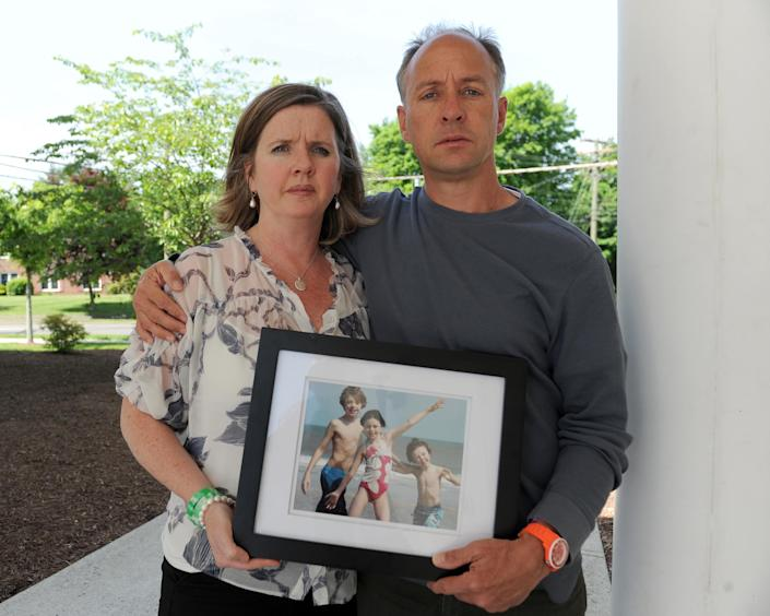 Jackie and Mark Barden, seen here in 2014, lost their son, Daniel, in the Sandy Hook shooting. (Photo: Enid Alvarez/NY Daily News via Getty Images)
