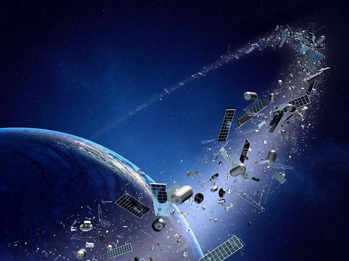 Space junk is becoming an increasing problem as more and more objects are sent into low-Earth orbit (Getty Images/iStockphoto)