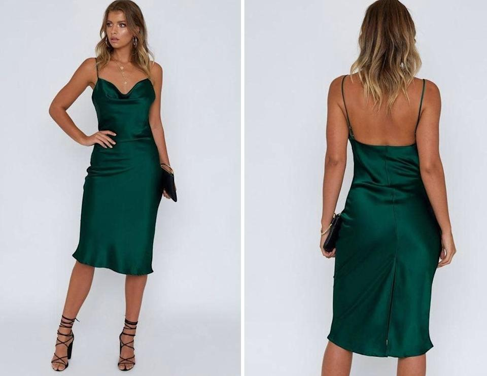 """This is perfect for those who are ready to re-up on their occasionwear. Reviewers are calling this compliment magnet """"stunning"""" since the sheen on the fabric is<i>just right</i>and the adjustable straps allow for a more customizable fit.<br /><br />BTW — Beginning Boutique is a woman-owned fashion business based in Brisbane, Australia, that specializes in gorgeous apparel and accessories fit for an OOTD hashtag.<br /><br /><strong>Promising review:</strong>""""Always love shopping with beginning boutique, arrives within days and I love this dress. True to size and just such a gorgeous piece."""" —<a href=""""https://go.skimresources.com?id=38395X987171&xs=1&xcust=HPSpringClothesDemand-60a2c5dee4b069dc48fe75a1-&url=https%3A%2F%2Fwww.beginningboutique.com%2Fproducts%2Fschiffer-slip-maxi-dress-emerald"""" target=""""_blank"""" rel=""""nofollow noopener noreferrer"""" data-skimlinks-tracking=""""5925990"""" data-vars-affiliate=""""Rakuten"""" data-vars-campaign=""""SHOPCutePiecesForYourBodyNowJasminSandal-4-15-21--5925990"""" data-vars-href=""""https://click.linksynergy.com/deeplink?id=yPKHhJU2qBg&mid=45834&murl=https%3A%2F%2Fwww.beginningboutique.com%2Fproducts%2Fschiffer-slip-maxi-dress-emerald%3Fcurrency%3DUSD&u1=SHOPCutePiecesForYourBodyNowJasminSandal-4-15-21--5925990"""" data-vars-keywords=""""fast fashion"""" data-vars-link-id=""""16635645"""" data-vars-price="""""""" data-vars-product-id=""""21084124"""" data-vars-product-img=""""http://cdn.shopify.com/s/files/1/0077/9327/9033/products/Schiffer_Slip_Midi_Dress_emerald_1024x1024.jpg?v=1576806114"""" data-vars-product-title=""""Schiffer Slip Midi Dress Emerald"""" data-vars-redirecturl=""""https://www.beginningboutique.com/products/schiffer-slip-maxi-dress-emerald?currency=USD"""" data-vars-retailers=""""beginningboutique"""" data-ml-dynamic=""""true"""" data-ml-dynamic-type=""""sl"""" data-orig-url=""""https://click.linksynergy.com/deeplink?id=yPKHhJU2qBg&mid=45834&murl=https%3A%2F%2Fwww.beginningboutique.com%2Fproducts%2Fschiffer-slip-maxi-dress-emerald%3Fcurrency%3DUSD&u1=SHOPCutePiecesForYourBodyNowJasminSandal-4-15-21"""