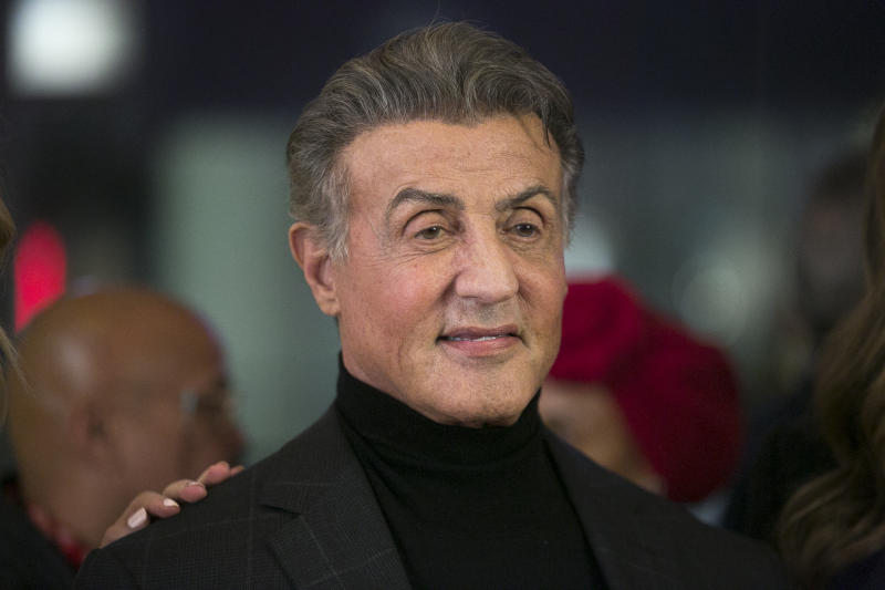 "BEVERLY HILLS, CALIFORNIA - NOVEMBER 11: Sylvester Stallone arrives for the Premiere Of HBO Documentary Film ""Very Ralph"" at The Paley Center for Media on November 11, 2019 in Beverly Hills, California. (Photo by Gabriel Olsen/FilmMagic)"