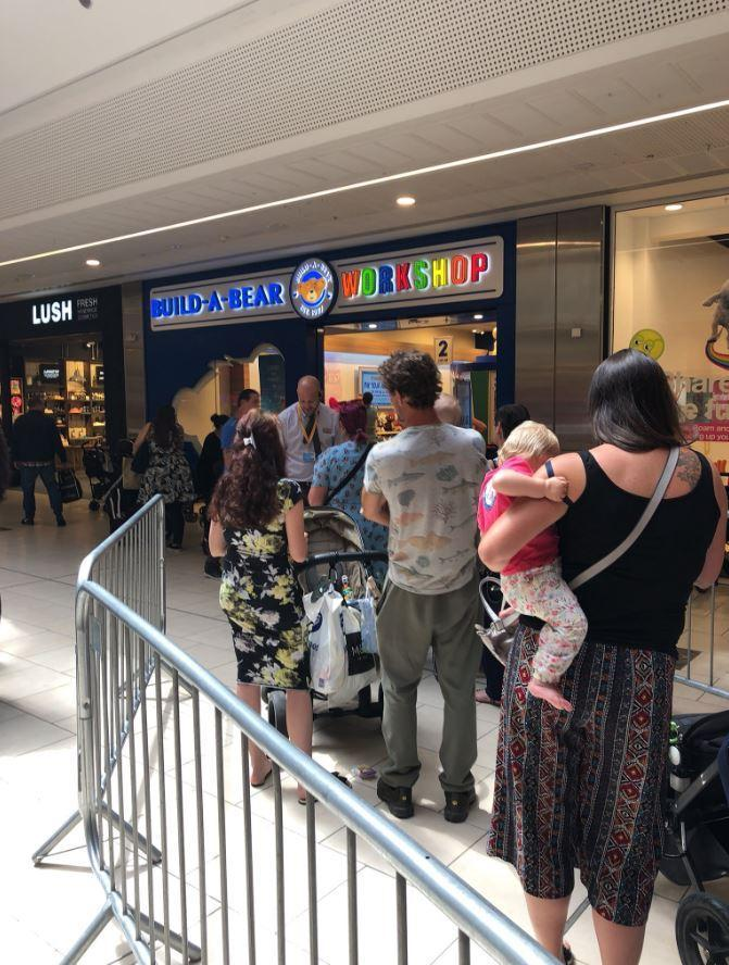 People were also seen queueing at Lakeside shopping centre (@SirKnoe)