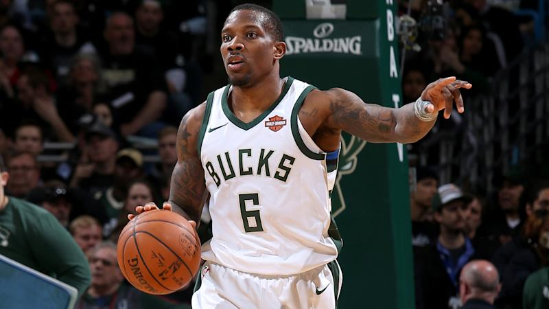 Terry Rozier arrives at Celtics-Sixers Game 1 wearing Drew Bledsoe jersey