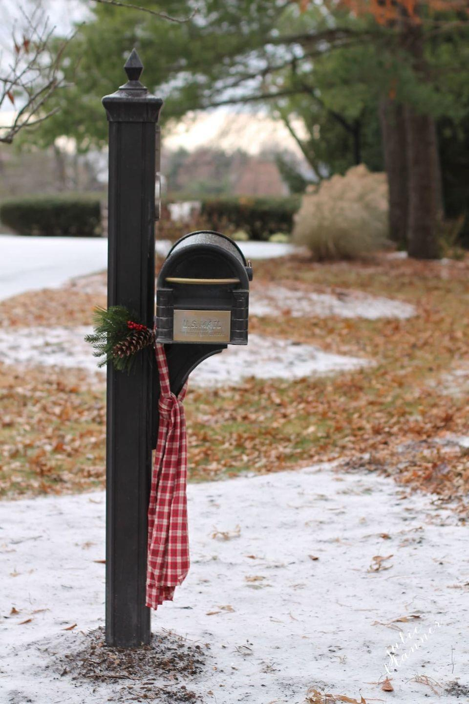"<p>A little hint of Christmas can go a long way when decorating your mailbox—and you probably have everything you need for this project.</p><p><strong>Get the tutorial at <a href=""https://julieblanner.com/christmas-mailbox/"" rel=""nofollow noopener"" target=""_blank"" data-ylk=""slk:Julie Blanner"" class=""link rapid-noclick-resp"">Julie Blanner</a>.</strong></p><p><a class=""link rapid-noclick-resp"" href=""https://www.amazon.com/Floral-Accessory-Perfect-Bouquet-Wrapping/dp/B086WZ81FR/ref=asc_df_B086WZ81FR/?tag=syn-yahoo-20&ascsubtag=%5Bartid%7C10050.g.33605249%5Bsrc%7Cyahoo-us"" rel=""nofollow noopener"" target=""_blank"" data-ylk=""slk:SHOP FLORAL WIRE"">SHOP FLORAL WIRE</a><br></p>"
