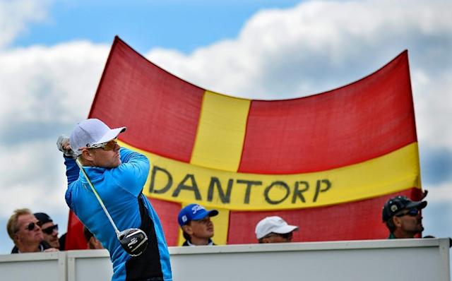Sweden's Jens Dantorp (here portrayed in 2014) qualified for the British open at Carnoustie after firing a birdie into the last three holes (AFP Photo/ANDERS WIKLUND/ TT)