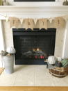 """<p>You can make this banner in less than five minutes! It uses burlap pennants to bring it all together. </p><p><strong>Get the tutorial at <a href=""""https://thesavvysparrow.com/easy-diy-fall-fireplace-decor-on-a-budget/"""" rel=""""nofollow noopener"""" target=""""_blank"""" data-ylk=""""slk:The Savvy Sparrow"""" class=""""link rapid-noclick-resp"""">The Savvy Sparrow</a>.</strong></p><p><a class=""""link rapid-noclick-resp"""" href=""""https://go.redirectingat.com?id=74968X1596630&url=https%3A%2F%2Fwww.walmart.com%2Fip%2F2-Ply-Natural-Jute-Twine-1-5mm-2mm-450-375-ft-DIY-Crafts-Home-D-cor-Garden-General-Utility%2F741723831&sref=https%3A%2F%2Fwww.thepioneerwoman.com%2Fhome-lifestyle%2Fcrafts-diy%2Fg36891743%2Ffall-mantel-decorations%2F"""" rel=""""nofollow noopener"""" target=""""_blank"""" data-ylk=""""slk:SHOP JUTE TWINE"""">SHOP JUTE TWINE</a></p>"""