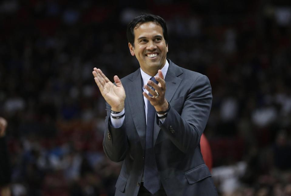 'It's not an overnight thing,' Heat coach Erik Spoelstra says of the team's success. (AP)