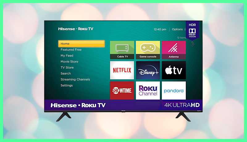 Save $30 on this Hisense 43-inch Roku 4K UHD Smart TV. (Photo: Amazon)