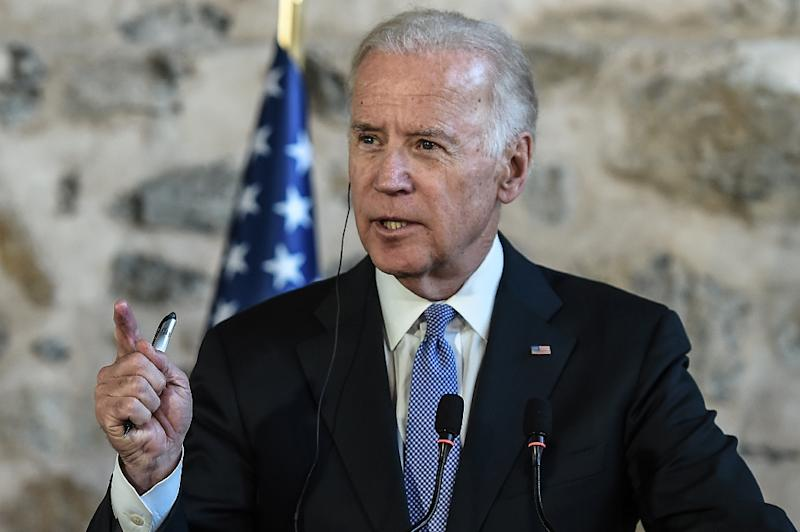 """US Vice President Joe Biden says the Kurdistan Workers Party (PKK) is a threat to Turkey like Islamic State, condemning the Kurdish militants as """"a terror group plain and simple"""" (AFP Photo/Ozan Kose)"""
