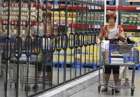 A woman shops at a Sam's Club in Bentonville