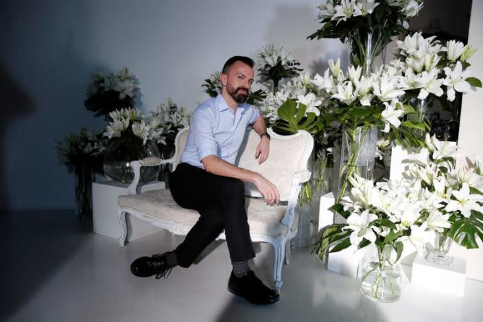 FILE PHOTO: French designer Julien Fournie unveils his Spring/Summer 2021 Haute Couture collection