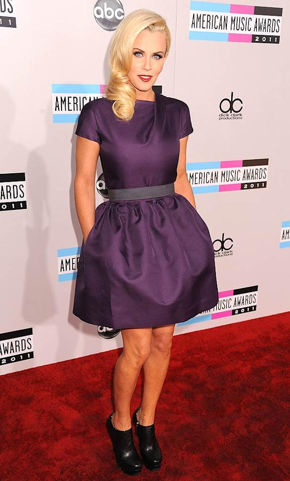 Jenny McCarthy arrives at the 2011 American Music Awards held at the Nokia Theatre L.A. LIVE. (11/20/2011)