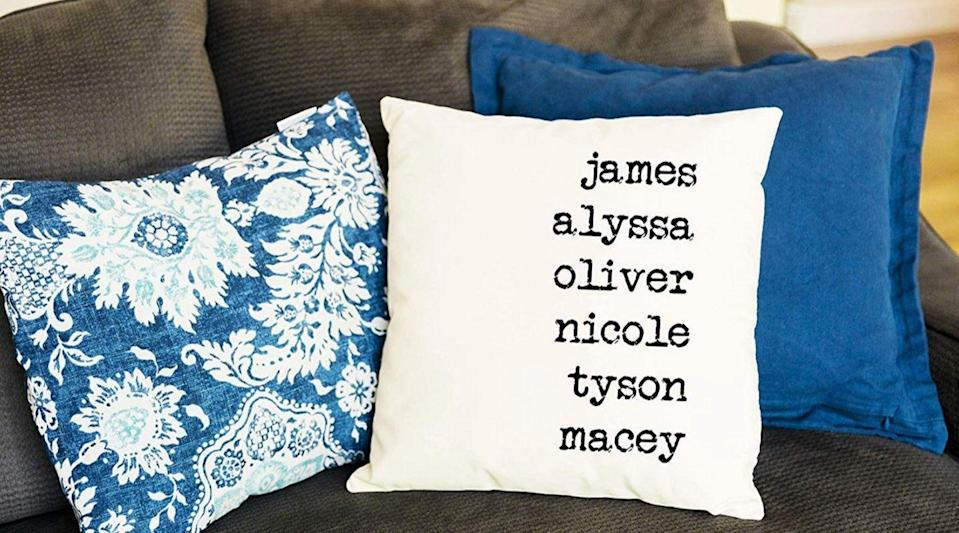 Best gifts for grandma: Qualtry Personalized Gift Throw Pillow Covers