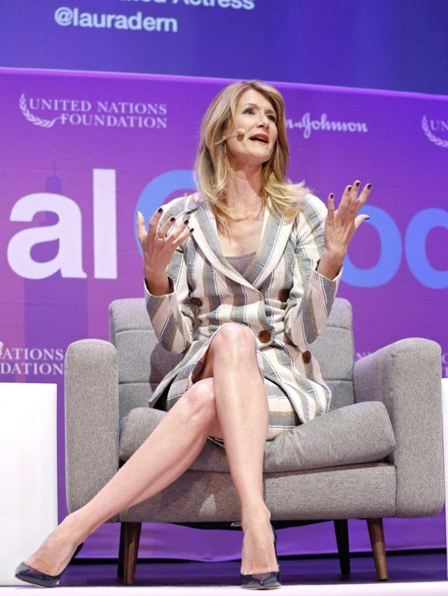 Laura Dern teamed up with Johnson & Johnson to kick off the fifth annual Global Moms Relay. (Photo: Brian Ach/Invision for Johnson & Johnson/AP Images)