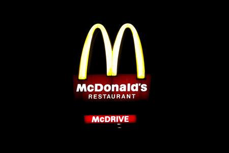 The logo of a McDonald's restaurant is seen in Bezons, near Paris