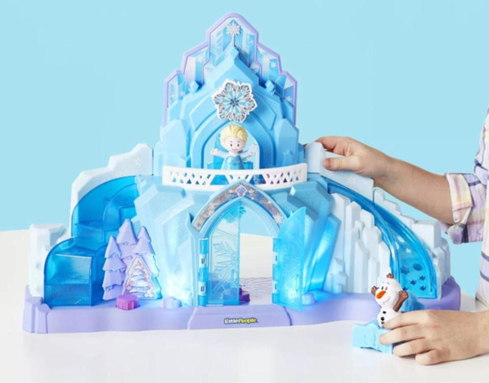 """This allows children to re-create the story of an imperial person with terrifying superpowers and self-control issues who nearly destroys her kingdom by nearly plunging it into a state of permanent winter. That's the plot of """"Frozen,"""" right?<br /><br /><strong>Promising Review:</strong>""""My 2-year-old got this castle for her birthday and she loves it! It's so cute and the lights are pretty, and surprisingly not annoying at all! Highly recommend!"""" --<a href=""""https://go.skimresources.com?id=38395X987171&xs=1&url=https%3A%2F%2Fwww.target.com%2Fp%2Ffisher-price-little-people-disney-frozen-elsa-39-s-ice-palace%2F-%2FA-76153077&xcust=HPToysForBoys6092de0ce4b0b9042d99f951"""" target=""""_blank"""" rel=""""noopener noreferrer"""">girlmom</a><br /><br /><strong>Get it from Target for <a href=""""https://go.skimresources.com?id=38395X987171&xs=1&url=https%3A%2F%2Fwww.target.com%2Fp%2Ffisher-price-little-people-disney-frozen-elsa-39-s-ice-palace%2F-%2FA-76153077&xcust=HPToysForBoys6092de0ce4b0b9042d99f951"""" target=""""_blank"""" rel=""""noopener noreferrer"""">$35.99</a>.</strong>"""