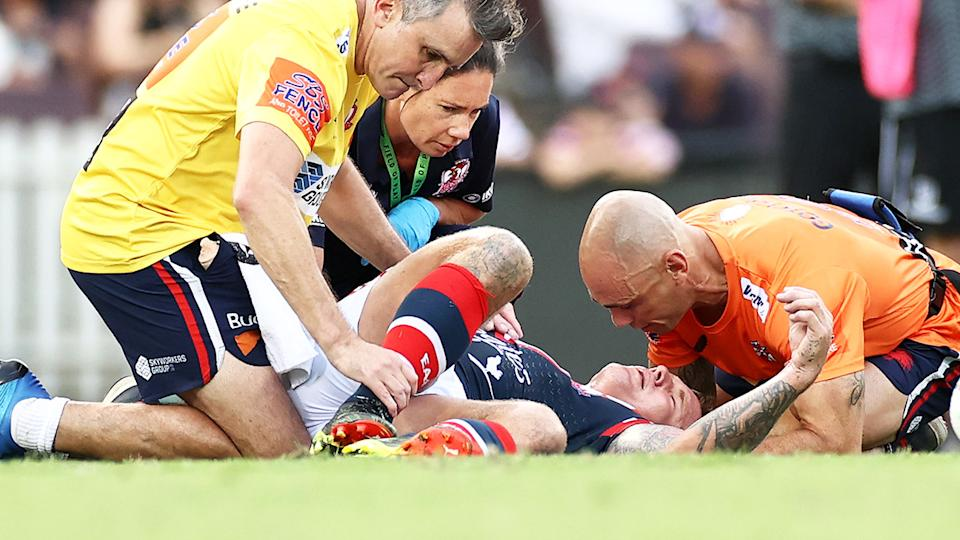 Jake Friend (pictured) unconscious after a head clash against Manly in Round 1.