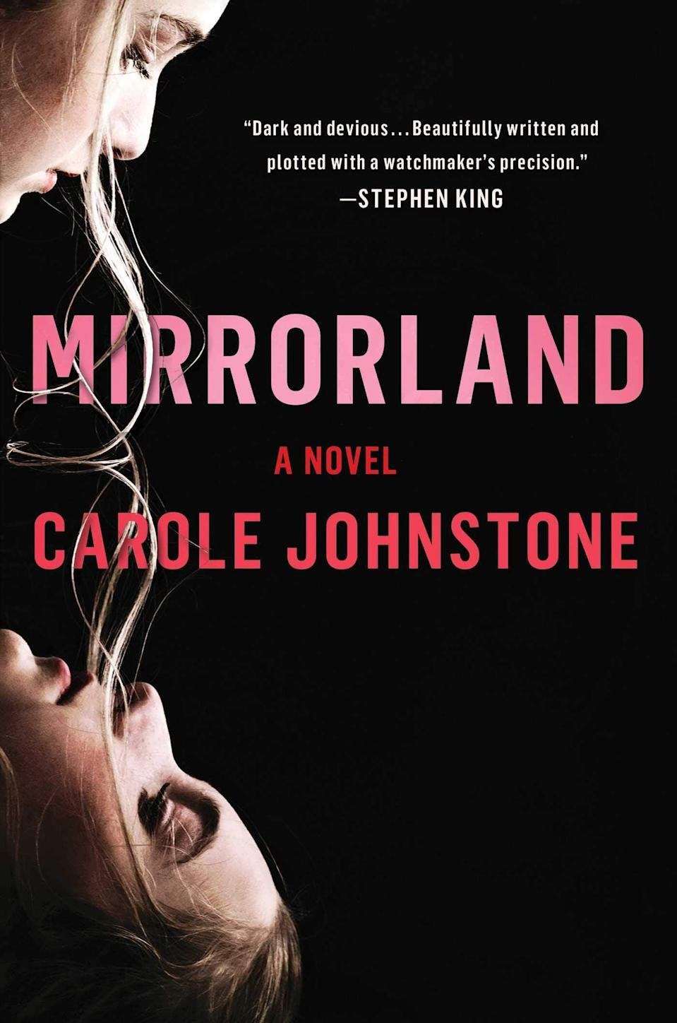 "<p>There's an undeniable gothic flair to Carole Johnstone's <a href=""https://www.amazon.com/Mirrorland-Carole-Johnstone/dp/1982136359"" class=""link rapid-noclick-resp"" rel=""nofollow noopener"" target=""_blank"" data-ylk=""slk:Mirrorland""><strong>Mirrorland</strong></a>. The story follows twin sisters El and Cat who grew up in a rambling, old house where they invented a dark underworld that existed in the cupboard under the stairs. As an adult, El rarely thinks about her estranged sister or their childhood invention, but when Cat goes missing, El finds a series of clues leading her straight to Mirrorland and a dark truth. </p> <p><em>Out April 20</em></p>"