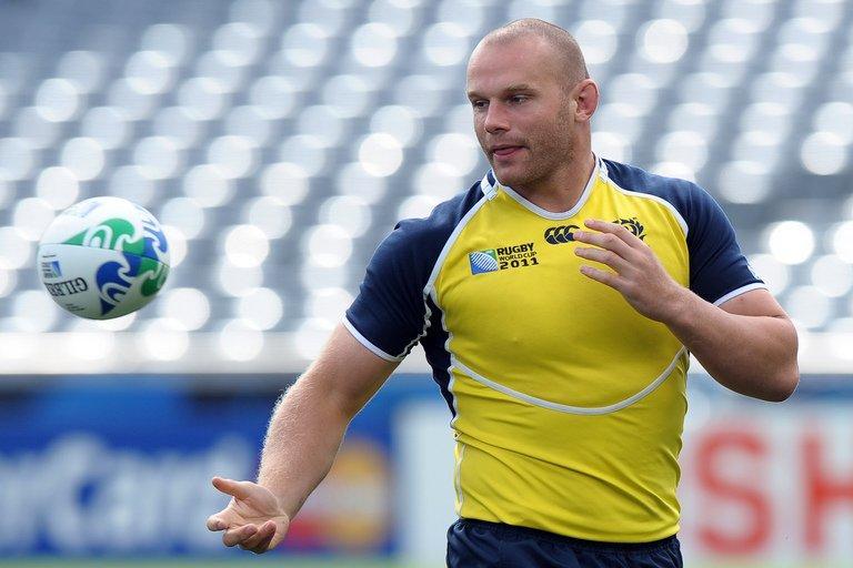 Geoff Cross takes part in a training session at Eden Park in Auckland, New Zealand on September 30, 2011