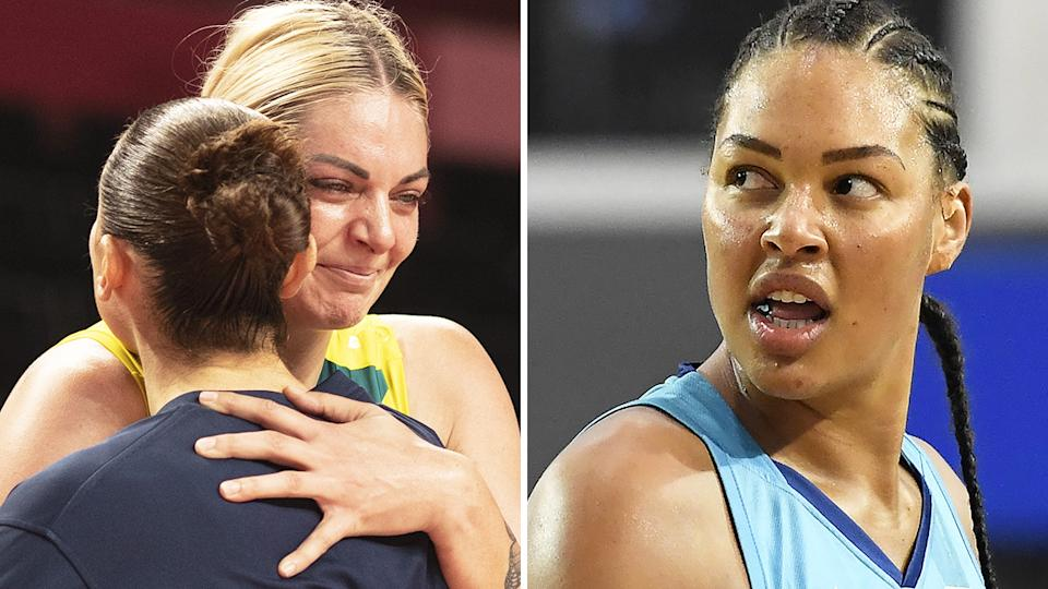The Australian Opals were devastated after their Olympic quarter final drubbing at the hands of Team USA, with the absence of Liz Cambage a key factor. Pictures: Getty Images