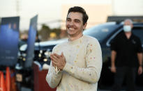 """FILE - Dave Franco, director/co-writer of """"The Rental,"""" poses at an advance screening of the film at Vineland Drive-In on June 18, 2020, in City of Industry, Calif. (AP Photo/Chris Pizzello, File)"""