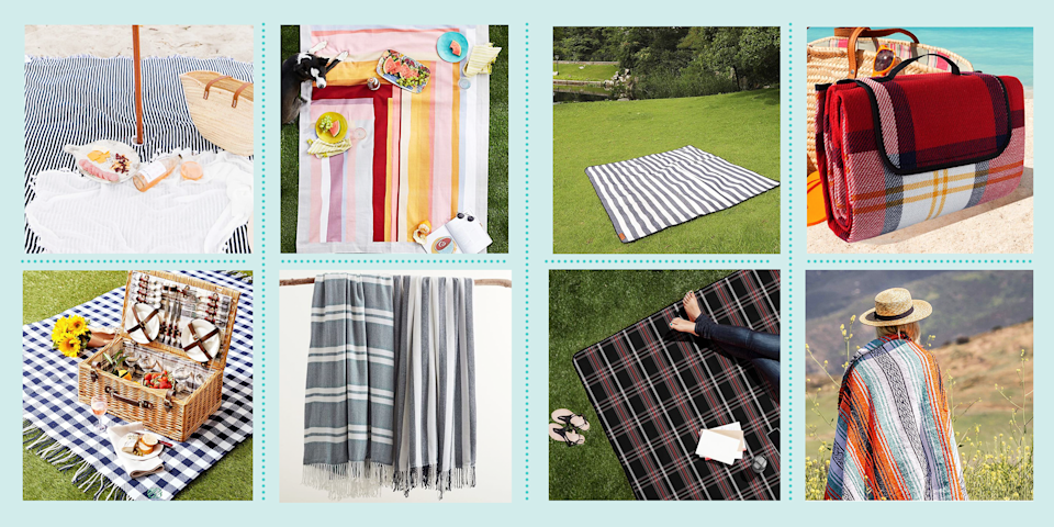 """<p>Come summer, there's nothing quite like eating outdoors with the ones you love. Picnics — whether at a local park or garden — are for enjoying nature, <a href=""""https://www.goodhousekeeping.com/food-recipes/g32347392/picnic-food-ideas/"""" rel=""""nofollow noopener"""" target=""""_blank"""" data-ylk=""""slk:tasty food"""" class=""""link rapid-noclick-resp"""">tasty food</a>, <a href=""""https://www.goodhousekeeping.com/food-recipes/g763/summer-drink-recipes/"""" rel=""""nofollow noopener"""" target=""""_blank"""" data-ylk=""""slk:refreshing drinks"""" class=""""link rapid-noclick-resp"""">refreshing drinks</a> and loads of entertainment (<a href=""""https://www.goodhousekeeping.com/health/wellness/a31500257/what-is-social-distancing/"""" rel=""""nofollow noopener"""" target=""""_blank"""" data-ylk=""""slk:socially distanced, of course"""" class=""""link rapid-noclick-resp"""">socially distanced, of course</a>!). But before you pack your picnic basket, there's one essential that can make or break your outing: a blanket. </p><p>The perfect picnic blanket must have a few qualities. While a waterproof style is always a no-fail choice, going for a lightweight design that's easy to pack is also key. Scroll down for a look at 12 of the best picnic blankets, including vibrant striped designs, foldable picks, oversized options and more.</p>"""