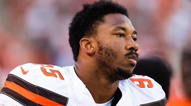 "Browns defensive end Myles Garrett said Kevin Durant ""broke the league"" when he joined the Warriors."