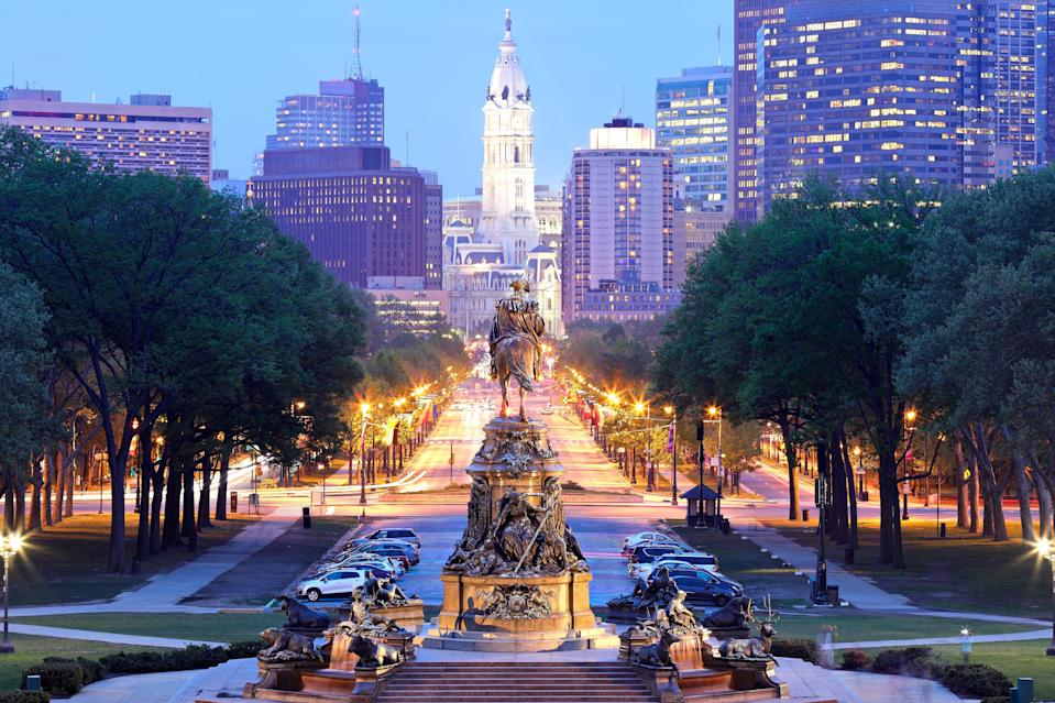 """If you're hoping to travel over the Fourth of July holiday, look no further than <a href=""""https://www.cntraveler.com/destinations/philadelphia-pennsylvania?mbid=synd_yahoo_rss"""" rel=""""nofollow noopener"""" target=""""_blank"""" data-ylk=""""slk:Philadelphia"""" class=""""link rapid-noclick-resp"""">Philadelphia</a>. (You might as well celebrate America's birthday in America's birthplace, right?) The city goes all out for Independence Day with fireworks, free concerts, and special events at museums across the city. (All outdoor events are set to occur at the time of publication, but <a href=""""https://www.visitphilly.com/july-4th-in-philadelphia/"""" rel=""""nofollow noopener"""" target=""""_blank"""" data-ylk=""""slk:be sure to check"""" class=""""link rapid-noclick-resp"""">be sure to check</a> closer to your visit so you can plan accordingly.) Even if you aren't in town for the 4th, be sure to head to the <a href=""""https://www.cntraveler.com/activities/philadelphia/philadelphia-museum-of-art?mbid=synd_yahoo_rss"""" rel=""""nofollow noopener"""" target=""""_blank"""" data-ylk=""""slk:Philadelphia Museum of Art"""" class=""""link rapid-noclick-resp"""">Philadelphia Museum of Art</a> (which recently unveiled new Frank Gehry-designed galleries after a four-year renovation) and check out the <em>New Grit: Art & Philly Now</em> exhibit. On display until August 22, the installation shows off the work of 25 living artists with ties to the city, reflecting on Black Lives Matter, immigration, and incarceration. Also be sure to book a room at <a href=""""https://www.cntraveler.com/hotels/philadelphia/the-rooms-at-fitler-club?mbid=synd_yahoo_rss"""" rel=""""nofollow noopener"""" target=""""_blank"""" data-ylk=""""slk:The Filter Club"""" class=""""link rapid-noclick-resp"""">The Filter Club</a>—its views of the fireworks over the Philadelphia Museum of Art are the best in town."""