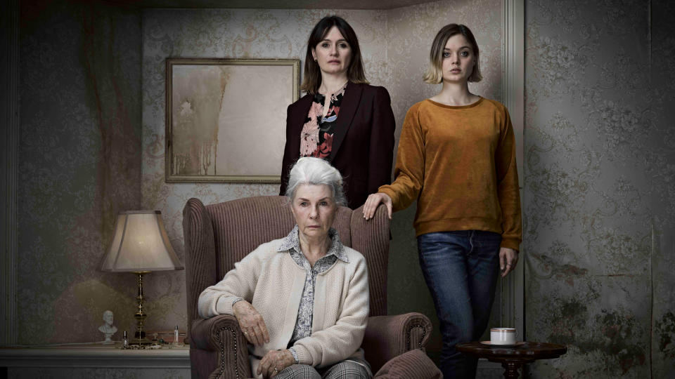 Robyn Nevin, Emily Mortimer and Bella Heathcote in 'Relic'. (Credit: Signature Entertainment)