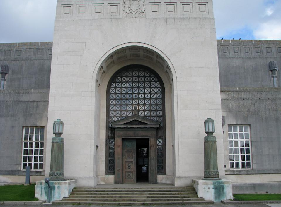 A general view of Swansea Crown Court Guildhall in Swansea, Wales.