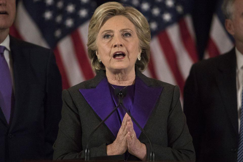 Clinton has called on her supporters to be open-minded about Trump's presidency. Photo: AAP