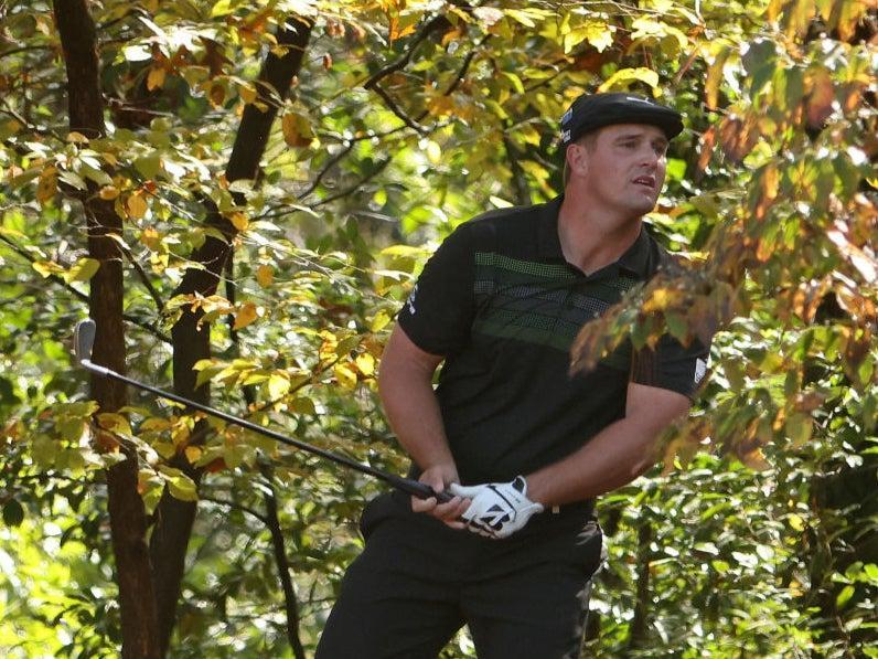 DeChambeau hits out of the tree at Augusta in 2020Getty Images