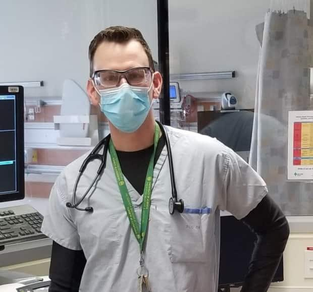 Dr. Sean van Diepen, an Edmonton critical care specialist, says the delta-driven surge in COVID-19 cases is having a serious impact on ICU capacity and causing staff burnout.  (Submitted by Dr. Sean van Diepen - image credit)