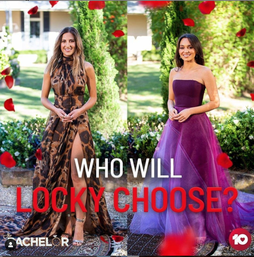 Locky told both Irena and Bella that he loved them Photo: Instagram/@TheBachelorAU