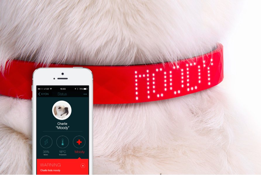 <p>The Kyon is claimed to be the thinnest GPS tracker collar around and packs a built-in LED display. If the dog leaves a preset perimeter, the user is alerted to ensure that the adventurous pooch doesn't get lost. The device can also track activity and temperature and has a battery life of up to 30 days. (Kyon) </p>