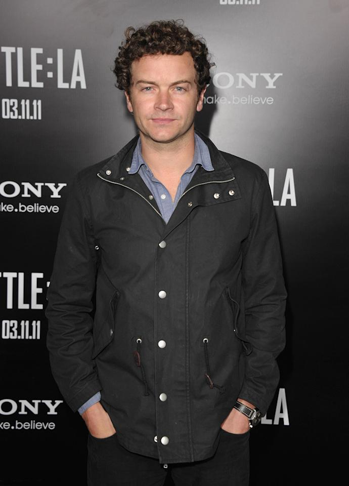 """<a href=""""http://movies.yahoo.com/movie/contributor/1800344117"""">Danny Masterson</a> at the Los Angeles premiere of <a href=""""http://movies.yahoo.com/movie/1810119633/info"""">Battle: Los Angeles</a> on March 8, 2011."""