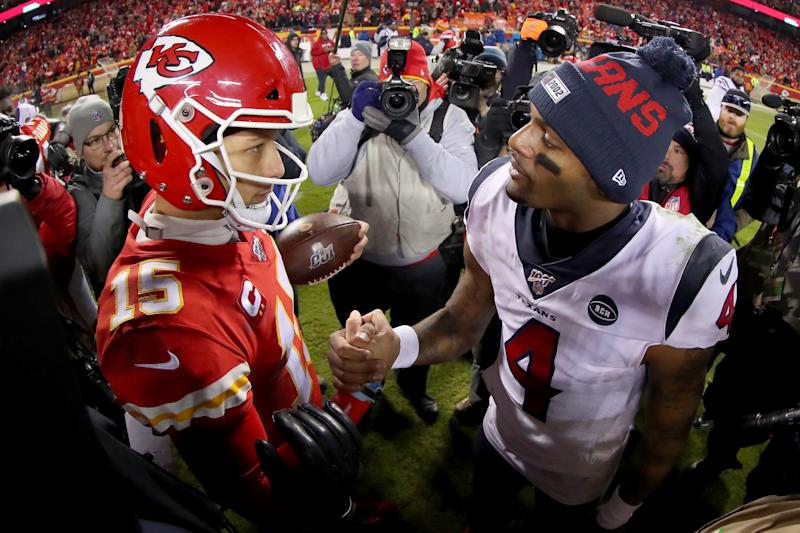 """Patrick Mahomes is the best quarterback in """"Madden,"""" which shouldn't come as a surprise, but Deshaun Watson was rated lower than many expected. (Photo by Tom Pennington/Getty Images)"""