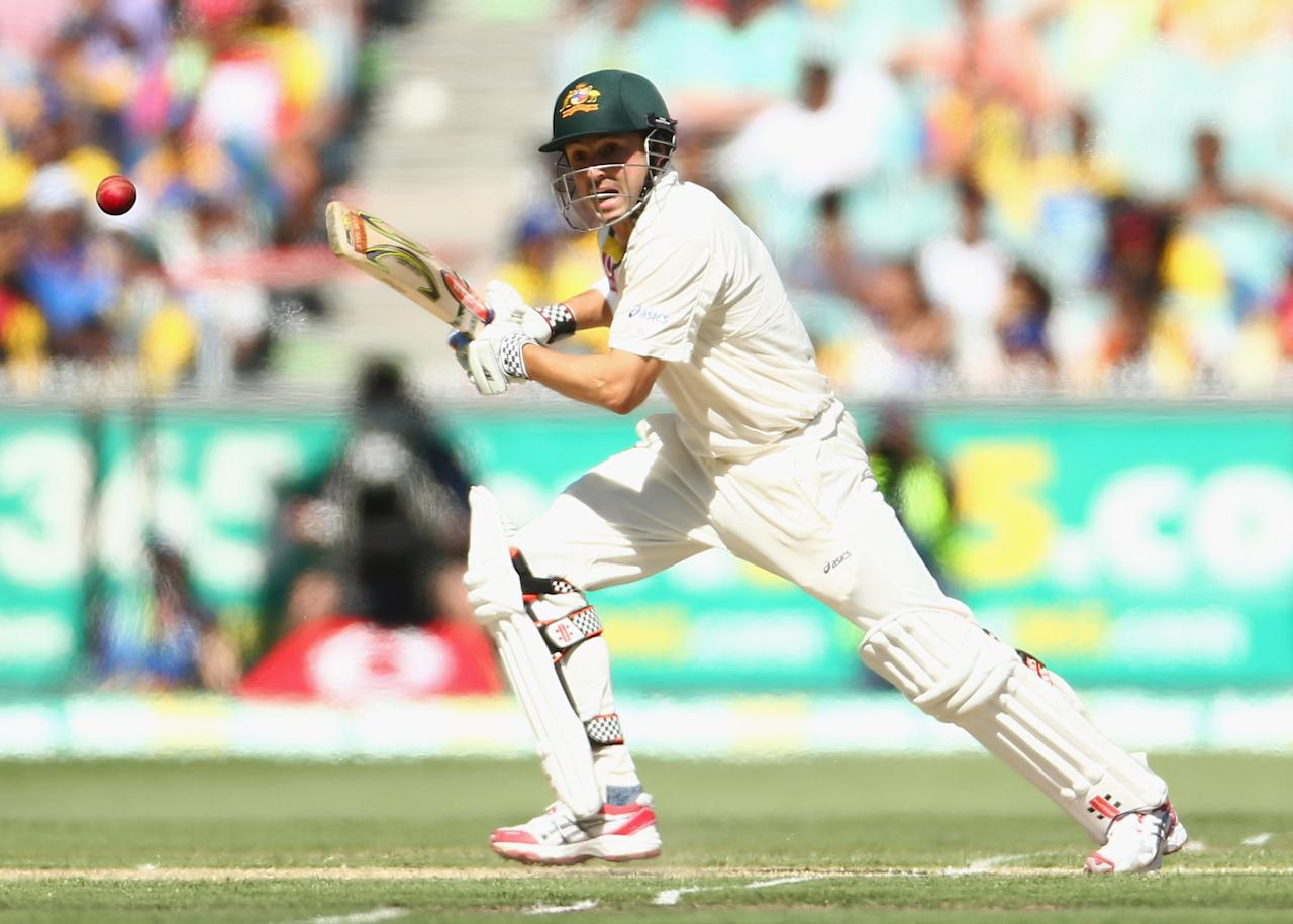 MELBOURNE, AUSTRALIA - DECEMBER 26:  Ed Cowan of Australia bats during day one of the Second Test match between Australia and Sri Lanka at Melbourne Cricket Ground on December 26, 2012 in Melbourne, Australia.  (Photo by Robert Cianflone/Getty Images)