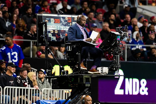 "Booger McFarland's ""Booger Mobile"" was short-lived, but hopefully his run in the MNF booth lasts longer. (Photo by Ric Tapia/Icon Sportswire via Getty Images)"