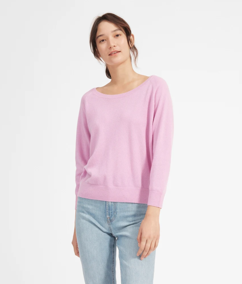 This ballet-inspired sweater is made of 100 percent Mongolian cashmere and drapes beautifully on all shapes and sizes. (Photo: Everlane)