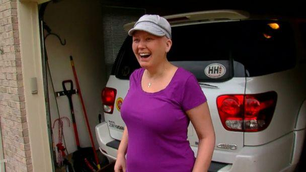 Tera Kiser surprised her best friend, Amy Kleiner, with a big neighborhood celebration before her last chemo treatment. (WKRC)
