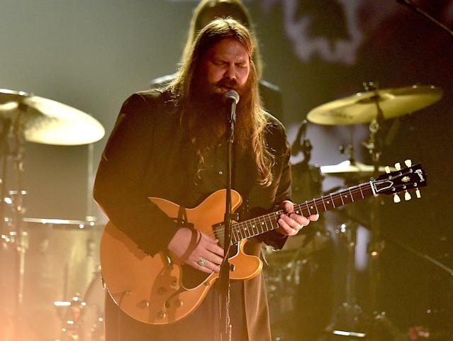 <p>Stapleton, who won here two years ago for <i>Traveller</i>, will likely win again for <i>From a Room: Volume 1</i>. Stapleton is vying to become the first male solo artist to win twice in this category since the category was re-introduced in 1994. (Photo: Kevin Winter/WireImage) </p>