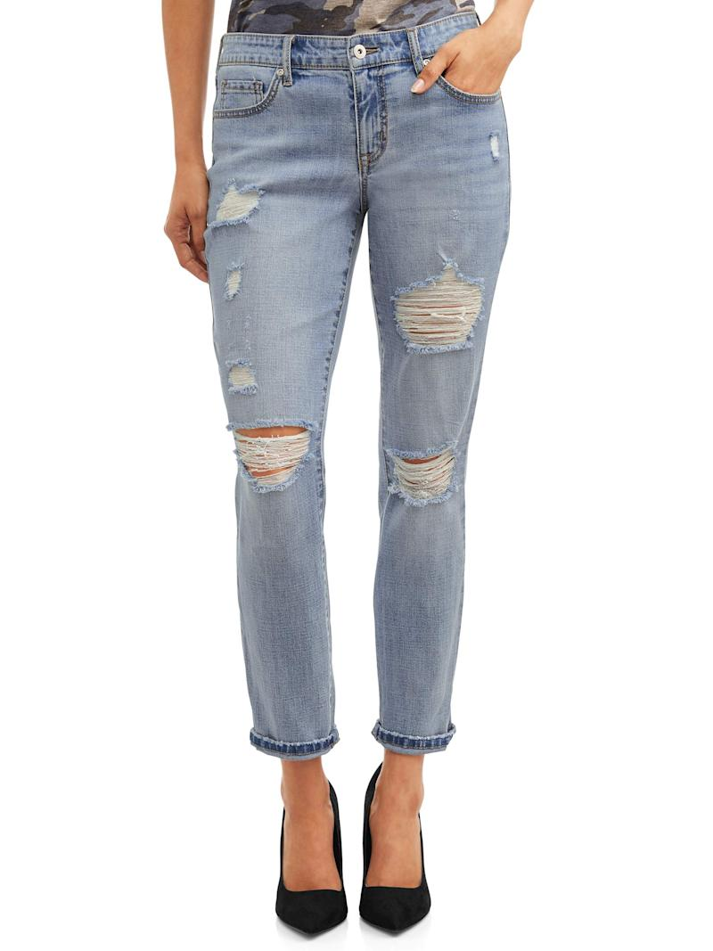 We've never seen a rugged pair of jeans look so fashionable. (Photo: Walmart)