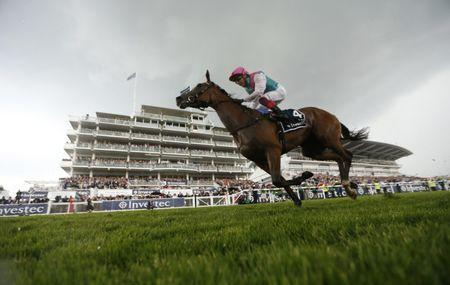 Britain Horse Racing - Derby Festival - Epsom Racecourse - June 2, 2017 Frankie Dettori on Enable wins the 4.30 Investec Oaks Action Images via Reuters / Matthew Childs Livepic EDITORIAL USE ONLY.