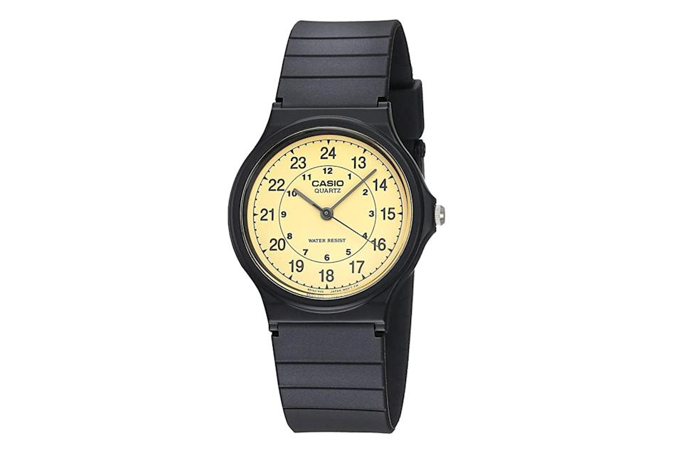 """Good enough for <a href=""""https://www.gq.com/story/casio-coolest-watch-tyler-the-creator-kristen-stewart?mbid=synd_yahoo_rss"""" rel=""""nofollow noopener"""" target=""""_blank"""" data-ylk=""""slk:Tyler the Creator"""" class=""""link rapid-noclick-resp"""">Tyler the Creator</a>, good enough for anyone on your list. $22, Amazon. <a href=""""https://www.amazon.com/Casio-MQ24-9B-Classic-Analog-Watch/dp/B0001XVUFA/"""" rel=""""nofollow noopener"""" target=""""_blank"""" data-ylk=""""slk:Get it now!"""" class=""""link rapid-noclick-resp"""">Get it now!</a>"""