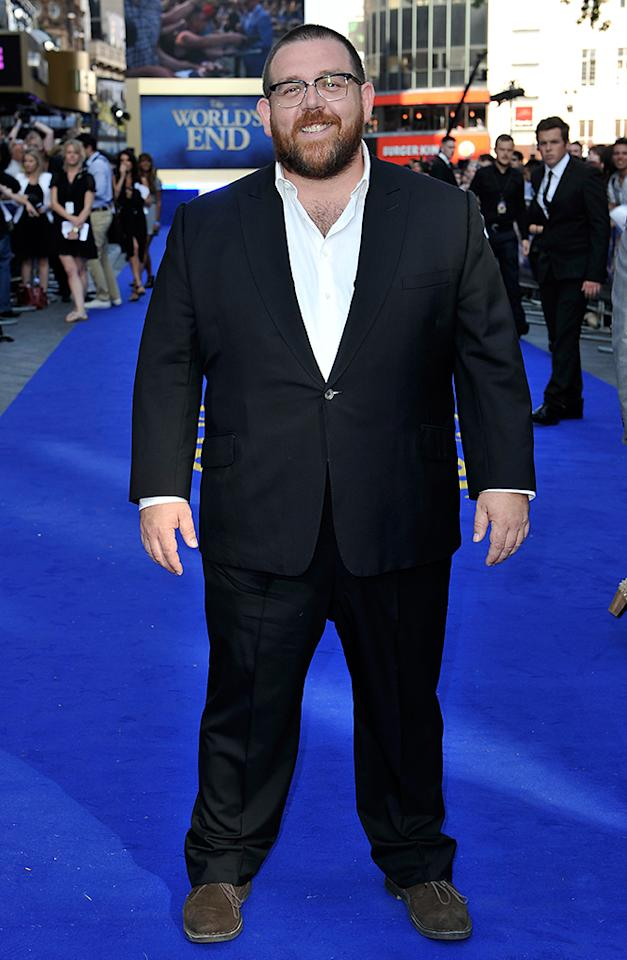 LONDON, ENGLAND - JULY 10:  Actor Nick Frost attends the World Premiere of The World's End at Empire Leicester Square on July 10, 2013 in London, England.  (Photo by Gareth Cattermole/Getty Images for Universal Pictures)